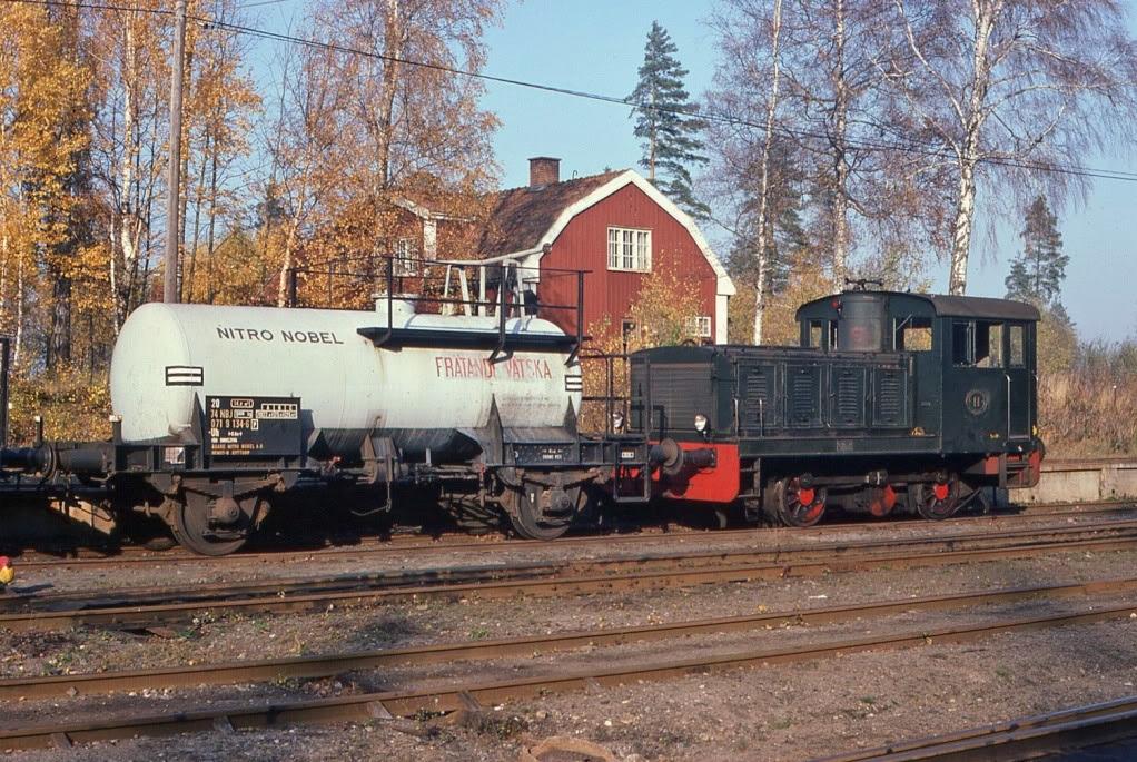 NBJ 11 växlar i Gyttorp 1978. Foto: Björn Malmer