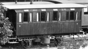 NKJ B 25 i Nora runt förra sekelskiftet. Foto: Järnvägsmuseum