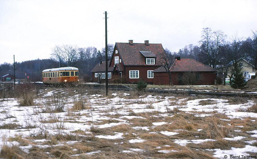 SJ Y7 1220 i Rångedala 1985. Foto: Bernt Talbrant