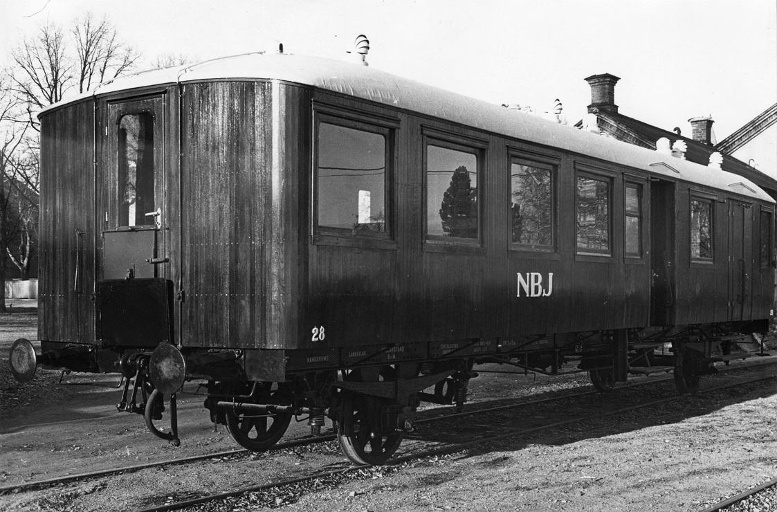 NBJ BCF 28 i Nora efter renoveringen 1983. Foto: NBVJ-arkivet