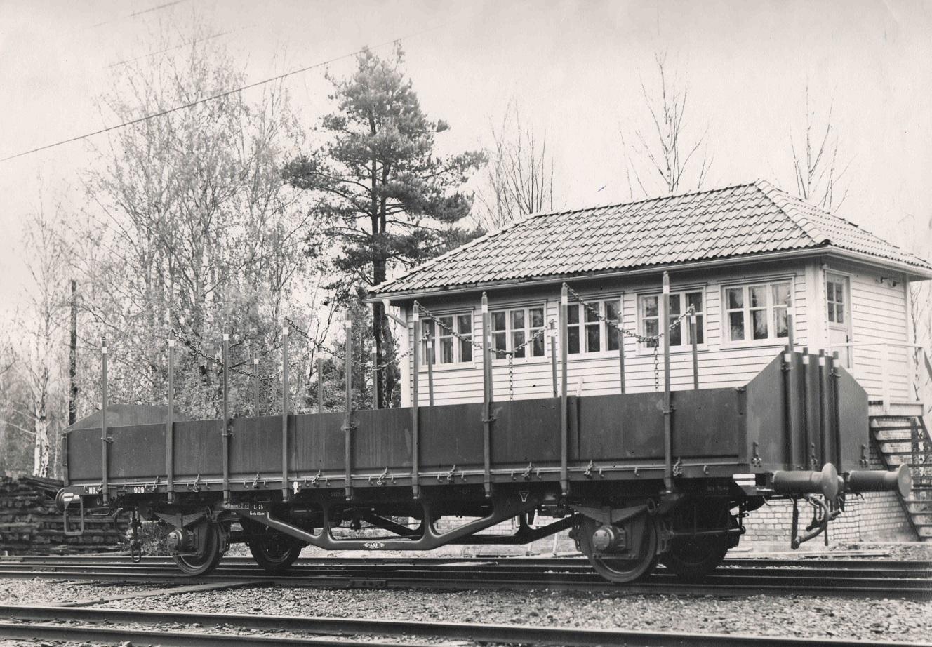 NBJ Ou 909 vid leveransen från ASJ i Falun 1948. Foto: NBJ-arkivet