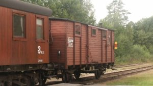 SJ F1 25559 sist i tåget i Järle 2004. Foto: Mats Abramson