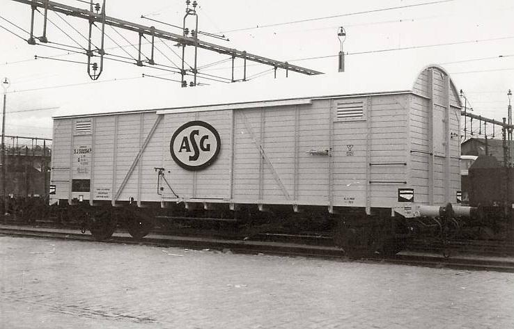 SJ G 50234 i Värtan 1955. Foto: Bengt Dahlberg