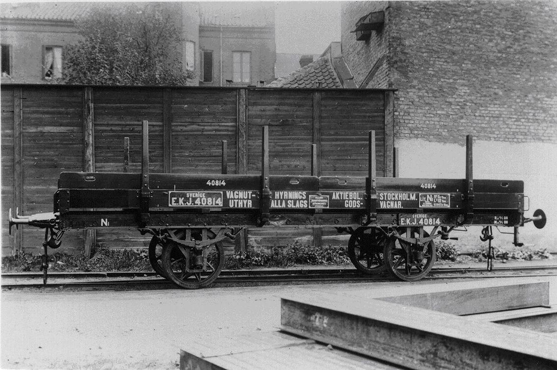 VUB N1 40814 vid leveransen. Foto: Järnvägsmuseum