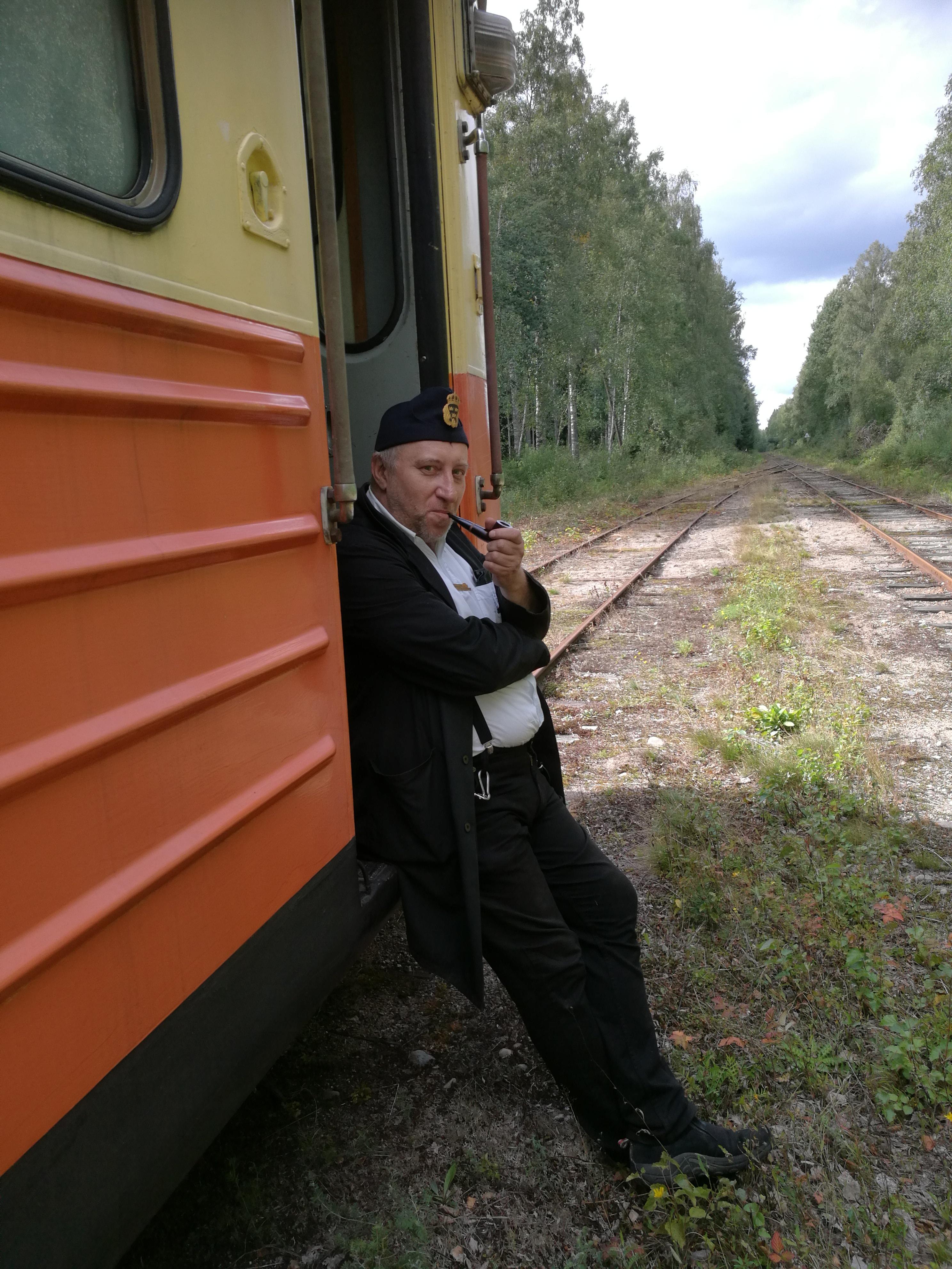 Tony, rälsbussförare . Foto Johnny Sörman